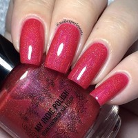 Red holographic nail polish all fired up 15ml