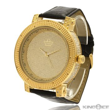 Men's Gold Diamond Hip Hop Watch