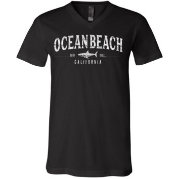 Ocean Beach California Asst Colors V-Neck