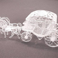 Cinderella or Princess Coach/Carriage - Princess Party Decoration, Party Favor, Place Card Holder, Cake Topper