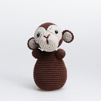 Monkey Plush, Chimpanzee Plush, Monkey Soft Toy, Crochet Monkey, Monkey Amigurumi, Monkey Plushie, Monkey Stuffed Animal, Chimpanzee Toy