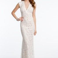 Allover Lace Dress with Open Back