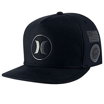 Hurley Dri-Fit US Olympic Team Hat-00A-Black-O/S