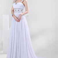 2016 Eternal White Evening Formal Bridesmaid Wedding Ball Gown Prom Party Dress
