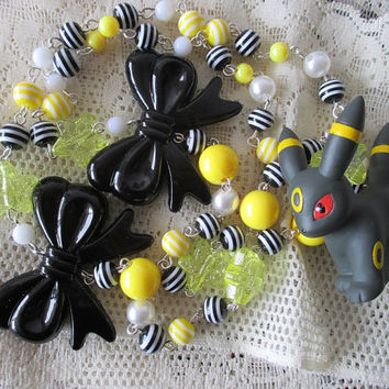 Pokémon Necklace - UMBREON - BANDAI Figure Necklace - Eeveelutions