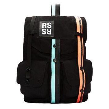 Neon Striped Canvas Backpack by Raf Simons