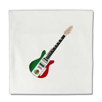 "Mexican Flag Guitar Design Micro Fleece 14""x14"" Pillow Sham by TooLoud"