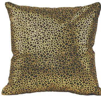 Daisy Pillow Black And Gold Black