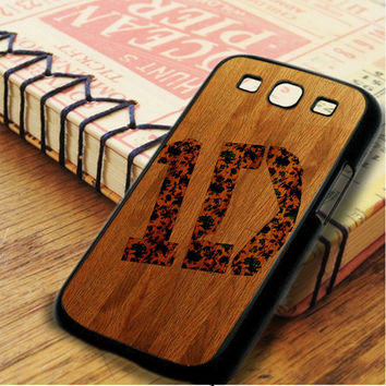 Wood One Direction Logo Samsung Galaxy S3 Case