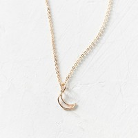 Mini Doodle Moon Charm Necklace | Urban Outfitters