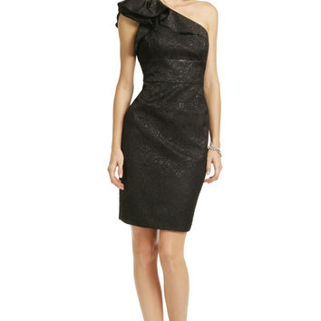 Carmen Marc Valvo Black Truffle Dress