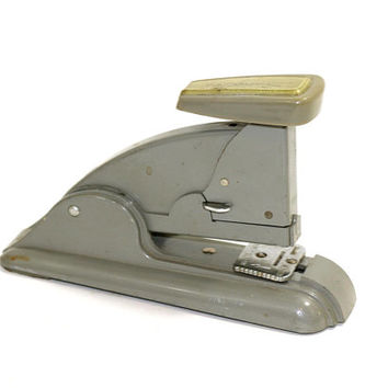 Vintage Swingline Stapler 40's Model Slate Gray | Easy Fill & Ability to Tack | Mid Century Modern MCM | Vintage Office Supply