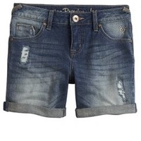 Destructed Mid Thigh Cuff Shorts | Girls Butterflies & Blooms Outfits | Shop Justice