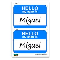 Miguel Hello My Name Is - Sheet of 2 Stickers