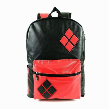 Free Shipping High Quality DC Comics Harley Quinn Knapsack Backpack School Bag for Young