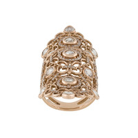 Loree Rodkin 18kt Rose Gold And Diamond Long Finger Ring - Farfetch