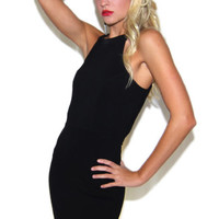 Cage Me Up Bodycon Dress in Black