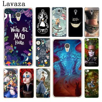 Lavaza Alice in Wonderland cat Hard Phone Case for Meizu M3 M3S Mini M3 M5 M6 Note M5C M5S M6S Cover Shell