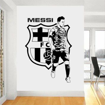 Football Star Quote Messi Wall Stickers Art Room Home Decor Wall Stickers for Boys Room Nursery Home Decor Mural