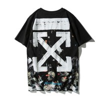 OFF-WHITE Woman Men Fashion Short Sleeve Tunic Shirt Top Blouse