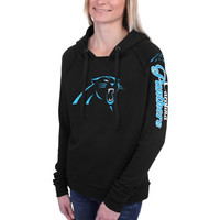 Carolina Panthers 5th and Ocean by New Era Women's Snap Count Pullover Hoodie – Black