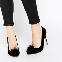 Missguided | Missguided Heeled Court Shoe With Pom Pom Detail at ASOS
