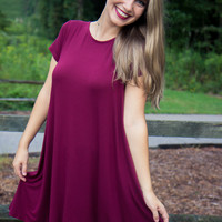 The Essentials Dress - Burgundy