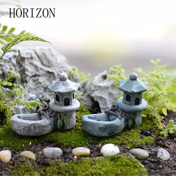 New1 pcs Vintage Artificial Pool Tower Miniature Fairy Garden Home Decoration Mini Craft Micro Landscaping Decor DIY Accessories