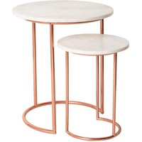 Copper & Marble Nesting Tables | Oliver Bonas