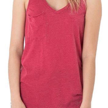 Z Supply The Pocket Racer Tank Jester Red
