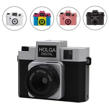 "Holga Aperture 8MP 1/3.2"" CMOS Sensor Lovely Gift Digital Camera Retro LOMO Filter Style with Hot Shoe Mount F2.8 F8.0"