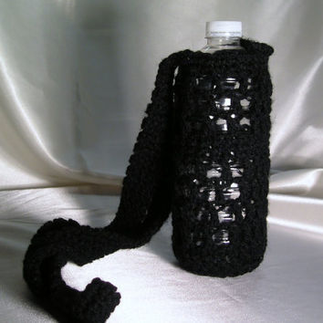 Small Water Bottle Carrier in Black
