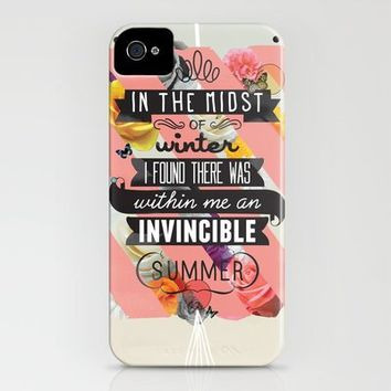 The Invincible Summer iPhone Case by Matthew Kavan Brooks | Society6