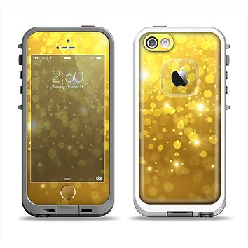 The Orbs of Gold Light Apple iPhone 5-5s LifeProof Fre Case Skin Set