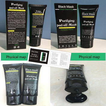 50ml New Deep Cleansing Purifying Peel Off Black Mud Facial Face Black Mask Remove Blackhead Facial Mask Black Head Pore Strip