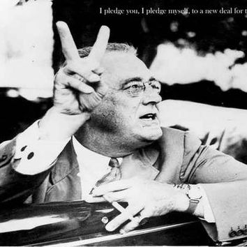 Franklin D Roosevelt Quote Poster 11x17