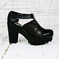 Deena & Ozzy Koko Buckle Heel Shoes in Black at Urban Outfitters