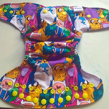 Adventure Time All In Two Cloth Diaper! Slight Seconds! 15% off!