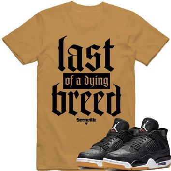 DYING BREED Sneaker Tees Shirt - Jordan 4 Black Laser Gum