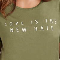 Plus Size Love Hate Graphic Tee