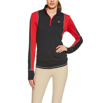 Ariat Ladies Lowell 1/4 Zip Shirt - Navy Colorblock