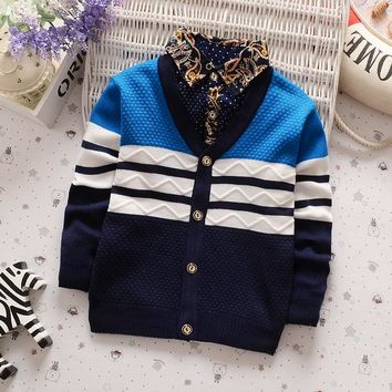 BibiCola Winter boys sweaters kntting cardigan casual boys pullovers Children's Kids Warm Clothes Gift For Boy
