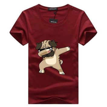 PEAPFS2 SWENEARO Men's t shirt men Brand T Shirt Dogs Animal cartoon Printed T Shirts Summer Casual High Quality Hipster tee shirts Men