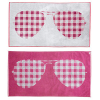 One Kings Lane - Beach Towels - S. Moss Sunglasses Towel, Berry