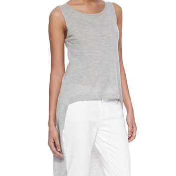 Sleeveless High-Low Cashmere