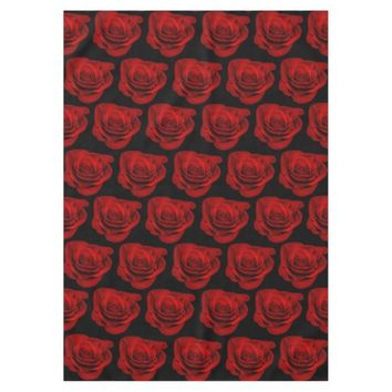 Gothic Red Roses Victorian Wedding Tablecloth