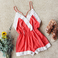Whiskey & Rye Romper in Rust