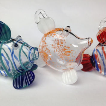 glass fish ornament/ suncatcher