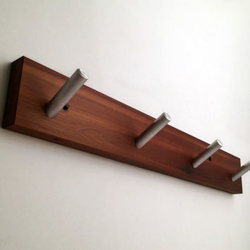 Rustic Coat rack, Recycled Wood, Four Hooks