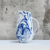 Blue And White Ceramic Water Jug